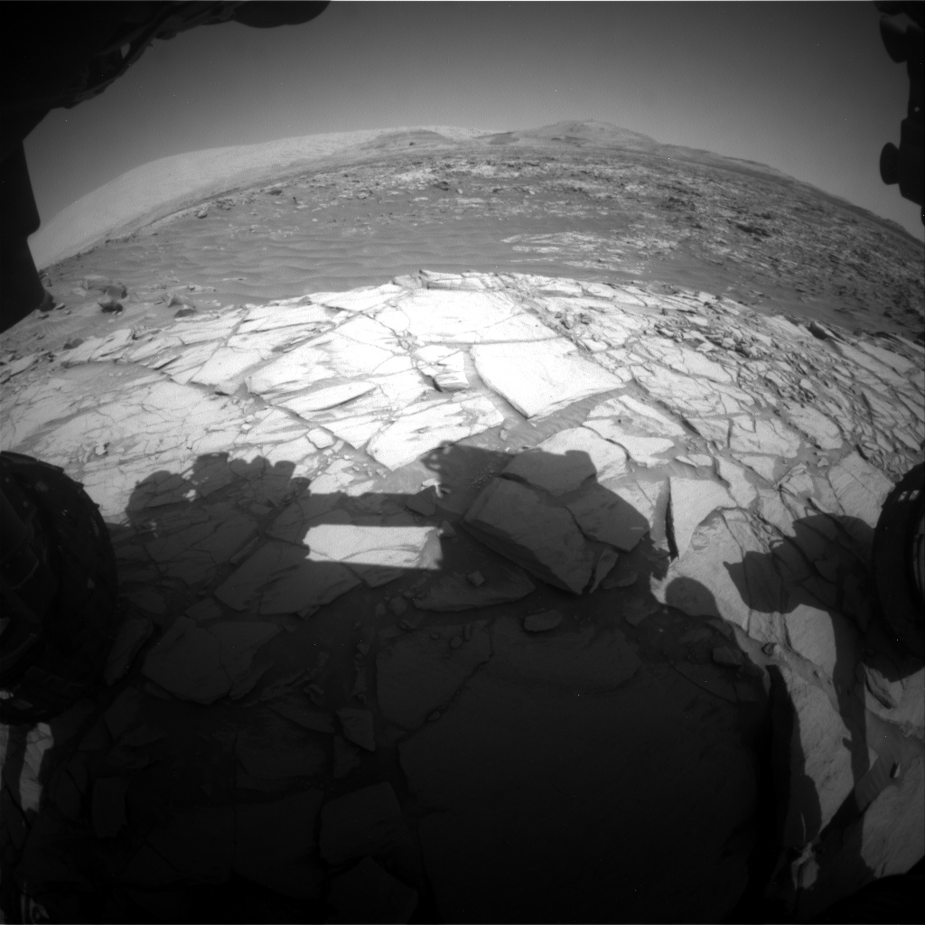 Nasa's Mars rover Curiosity acquired this image using its Front Hazard Avoidance Camera (Front Hazcam) on Sol 2702, at drive 654, site number 79