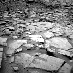 Nasa's Mars rover Curiosity acquired this image using its Left Navigation Camera on Sol 2702, at drive 624, site number 79
