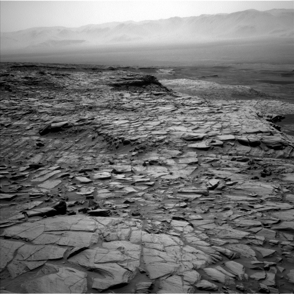 Nasa's Mars rover Curiosity acquired this image using its Left Navigation Camera on Sol 2702, at drive 654, site number 79