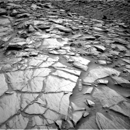 Nasa's Mars rover Curiosity acquired this image using its Right Navigation Camera on Sol 2702, at drive 636, site number 79