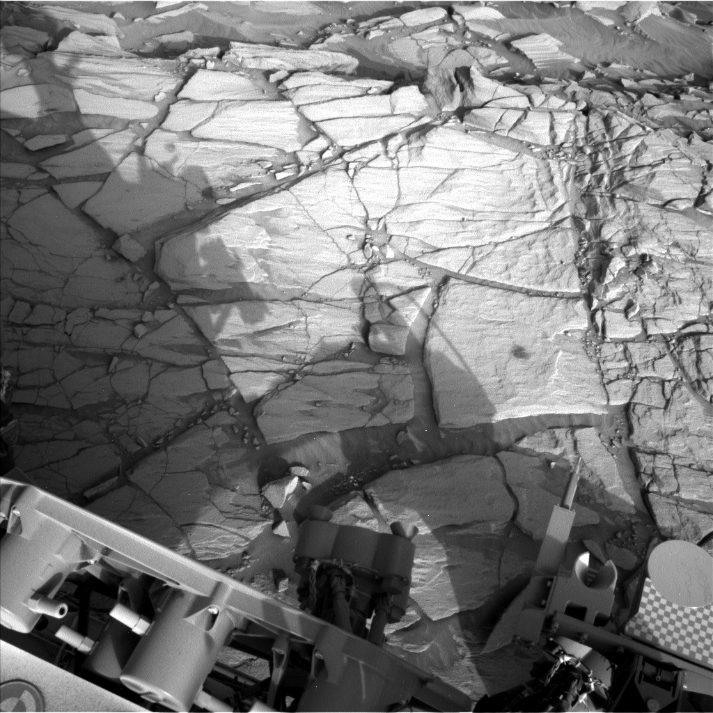 Nasa's Mars rover Curiosity acquired this image using its Left Navigation Camera on Sol 2703, at drive 654, site number 79