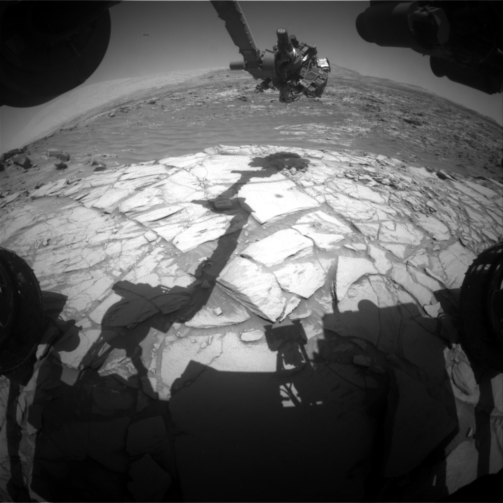 Nasa's Mars rover Curiosity acquired this image using its Front Hazard Avoidance Camera (Front Hazcam) on Sol 2704, at drive 654, site number 79
