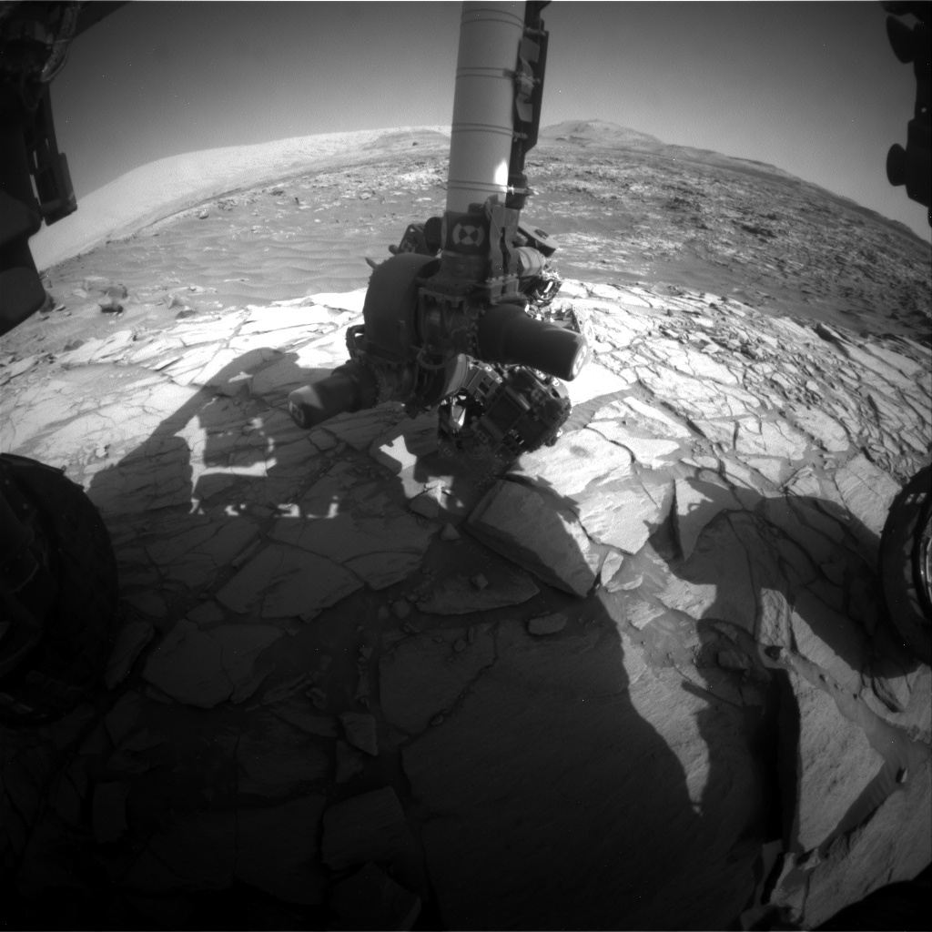 Nasa's Mars rover Curiosity acquired this image using its Front Hazard Avoidance Camera (Front Hazcam) on Sol 2706, at drive 654, site number 79