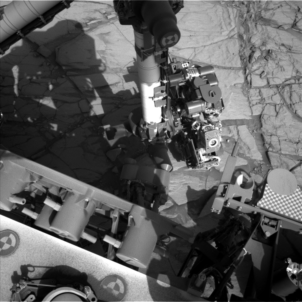 Nasa's Mars rover Curiosity acquired this image using its Left Navigation Camera on Sol 2706, at drive 654, site number 79