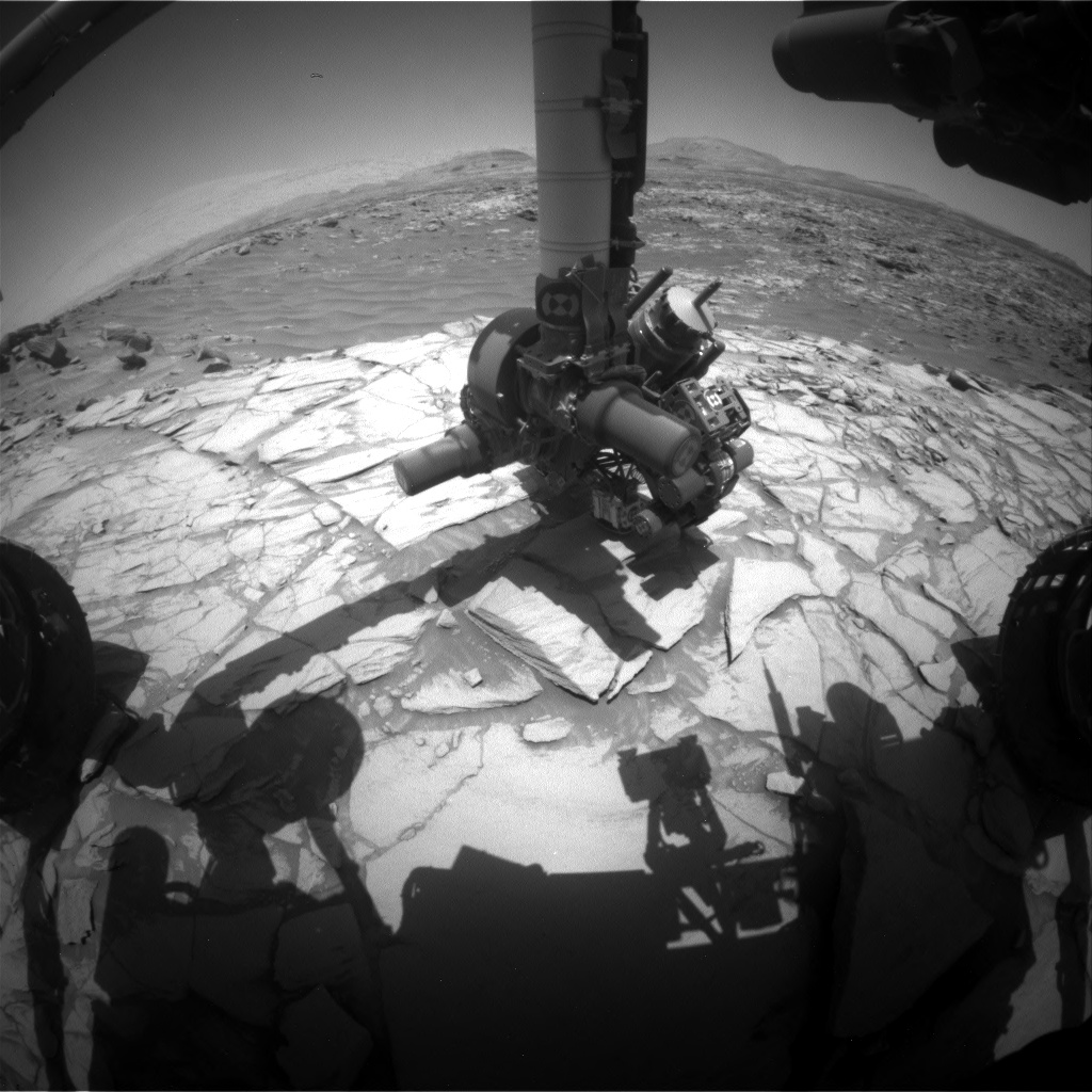 Nasa's Mars rover Curiosity acquired this image using its Front Hazard Avoidance Camera (Front Hazcam) on Sol 2710, at drive 654, site number 79