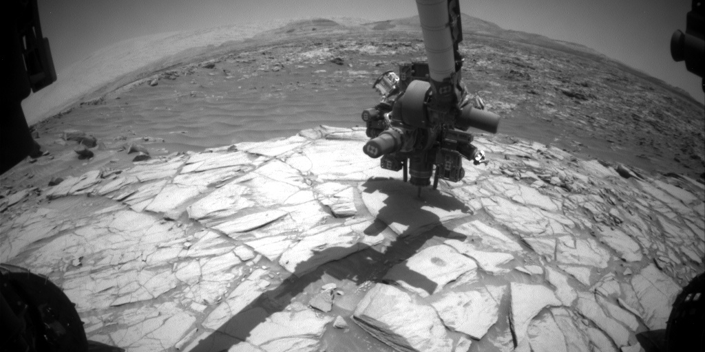 Nasa's Mars rover Curiosity acquired this image using its Front Hazard Avoidance Camera (Front Hazcam) on Sol 2711, at drive 654, site number 79