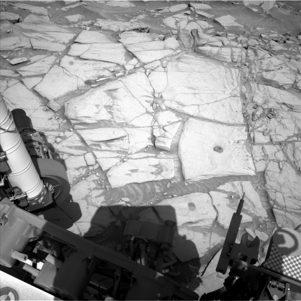 Nasa's Mars rover Curiosity acquired this image using its Left Navigation Camera on Sol 2711, at drive 654, site number 79