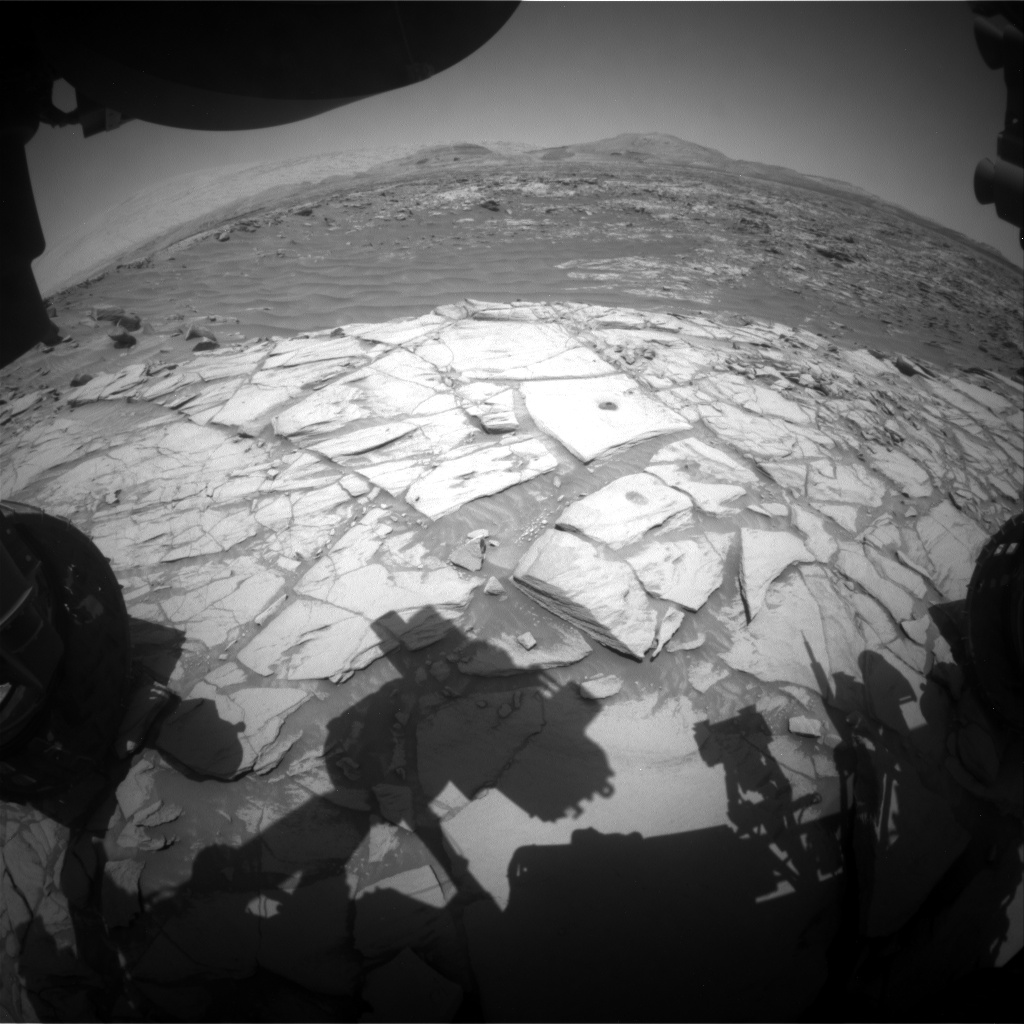 Nasa's Mars rover Curiosity acquired this image using its Front Hazard Avoidance Camera (Front Hazcam) on Sol 2712, at drive 654, site number 79