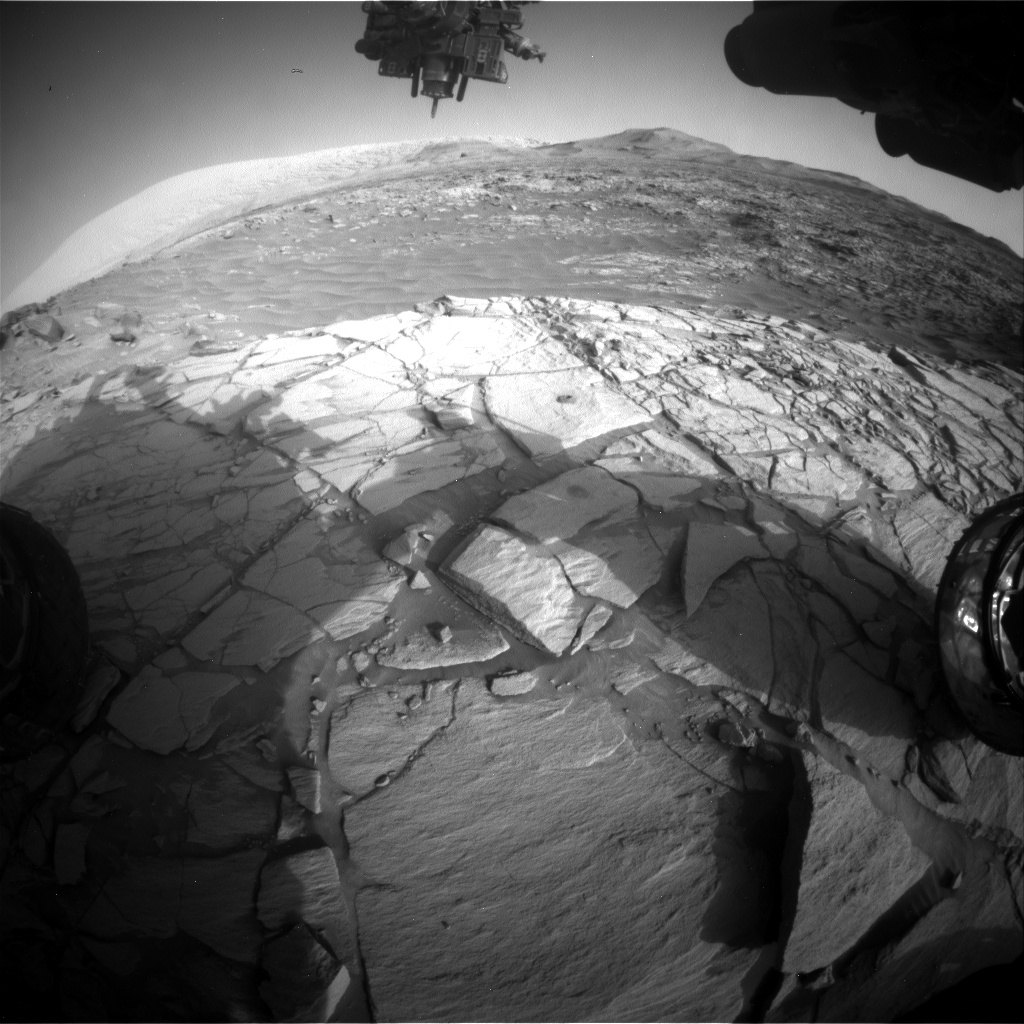 Nasa's Mars rover Curiosity acquired this image using its Front Hazard Avoidance Camera (Front Hazcam) on Sol 2713, at drive 654, site number 79