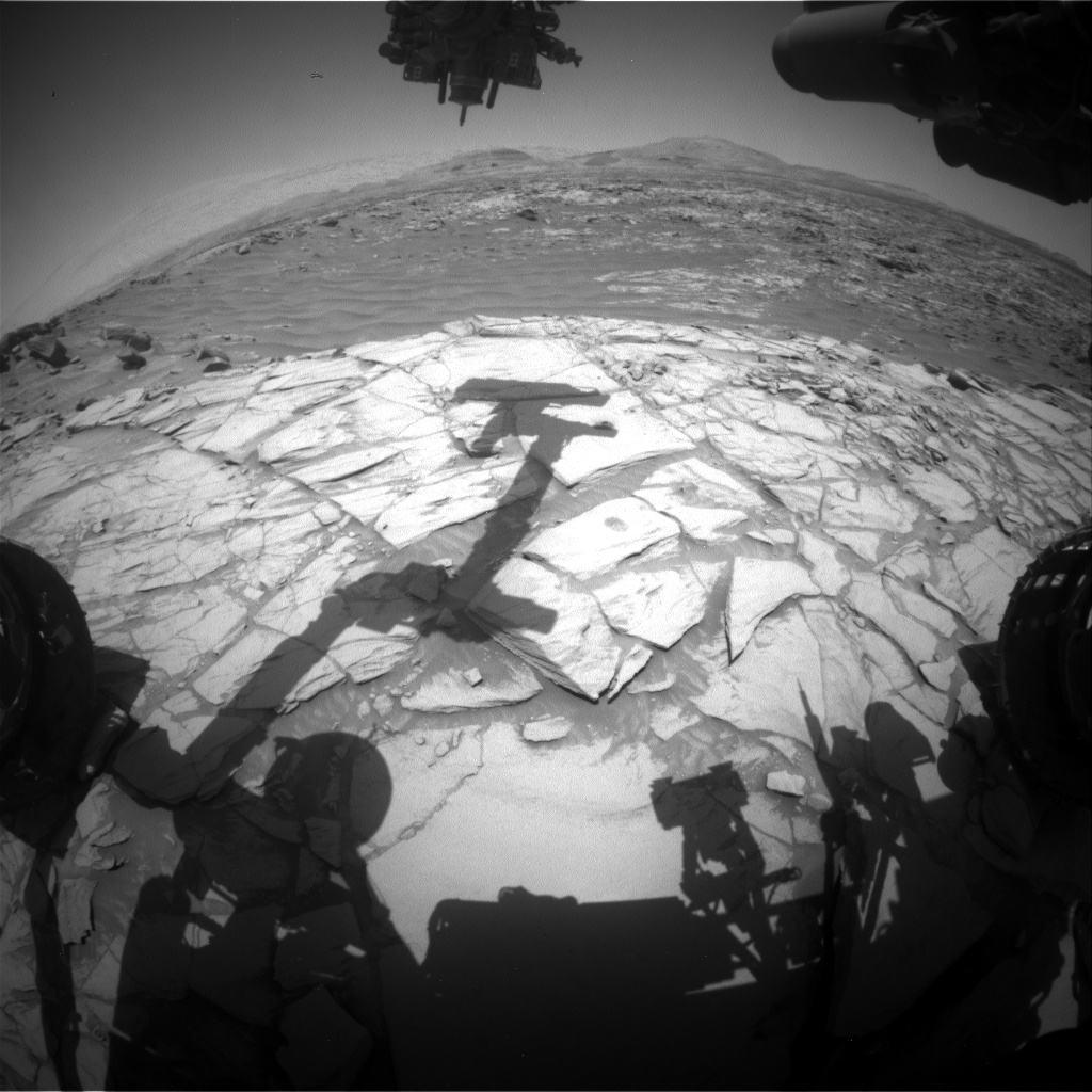 Nasa's Mars rover Curiosity acquired this image using its Front Hazard Avoidance Camera (Front Hazcam) on Sol 2714, at drive 654, site number 79