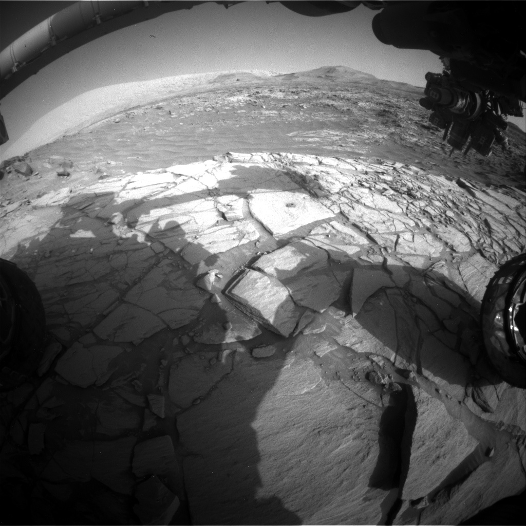 Nasa's Mars rover Curiosity acquired this image using its Front Hazard Avoidance Camera (Front Hazcam) on Sol 2715, at drive 654, site number 79