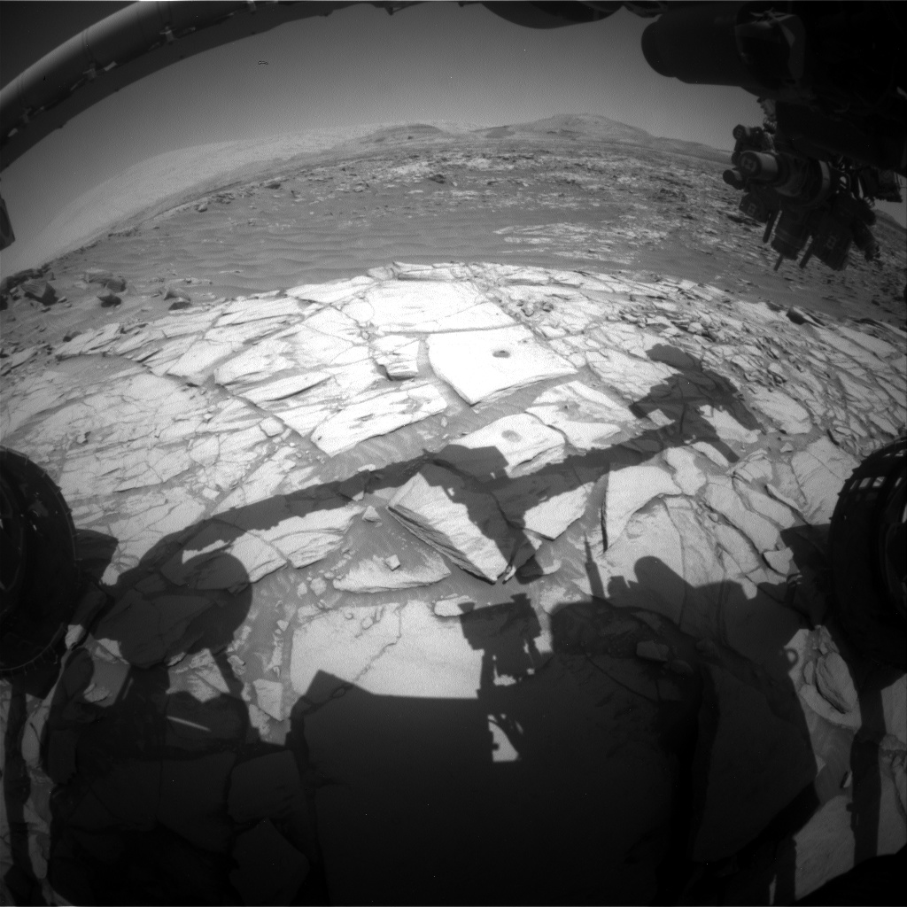 Nasa's Mars rover Curiosity acquired this image using its Front Hazard Avoidance Camera (Front Hazcam) on Sol 2717, at drive 654, site number 79