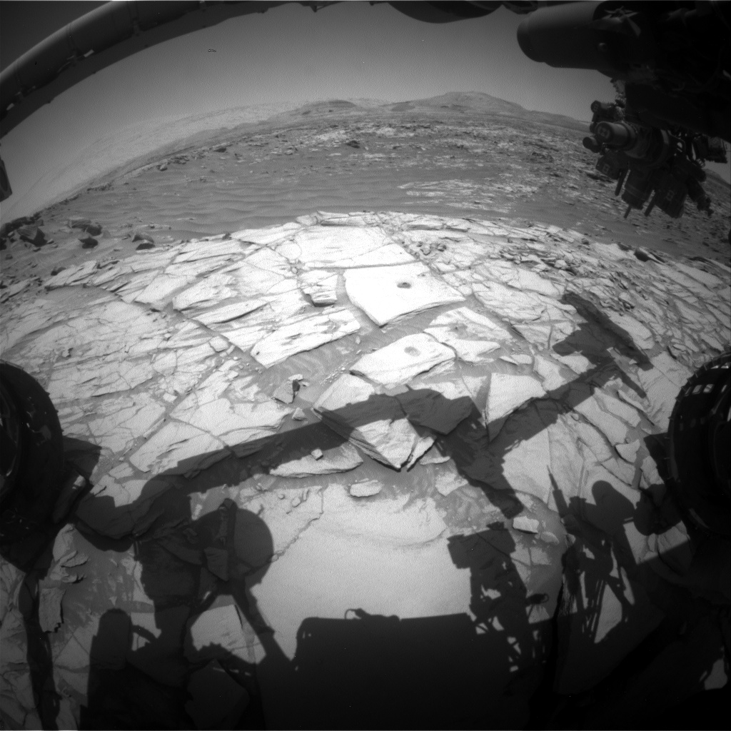 Nasa's Mars rover Curiosity acquired this image using its Front Hazard Avoidance Camera (Front Hazcam) on Sol 2718, at drive 654, site number 79