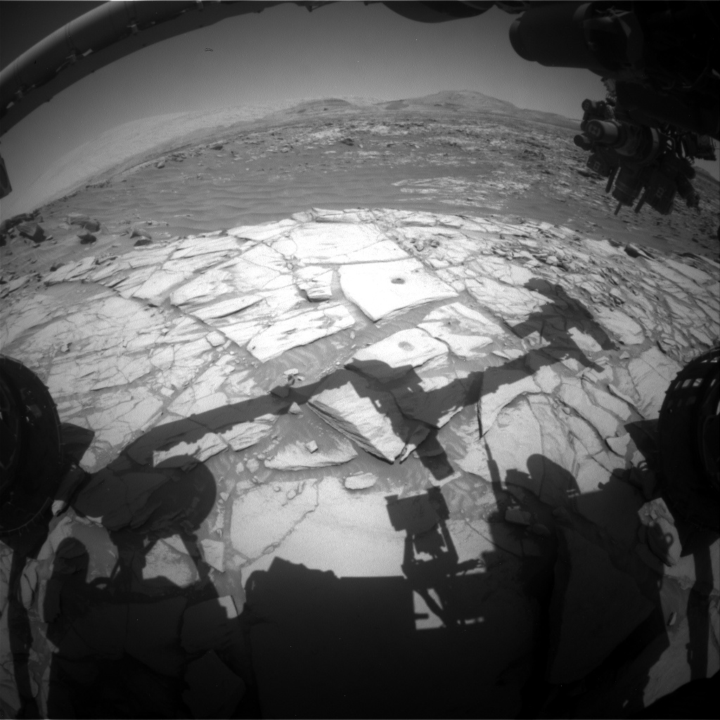 Nasa's Mars rover Curiosity acquired this image using its Front Hazard Avoidance Camera (Front Hazcam) on Sol 2719, at drive 654, site number 79