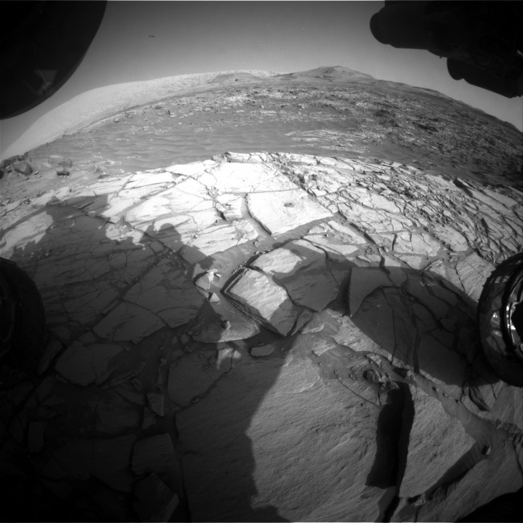 Nasa's Mars rover Curiosity acquired this image using its Front Hazard Avoidance Camera (Front Hazcam) on Sol 2720, at drive 654, site number 79