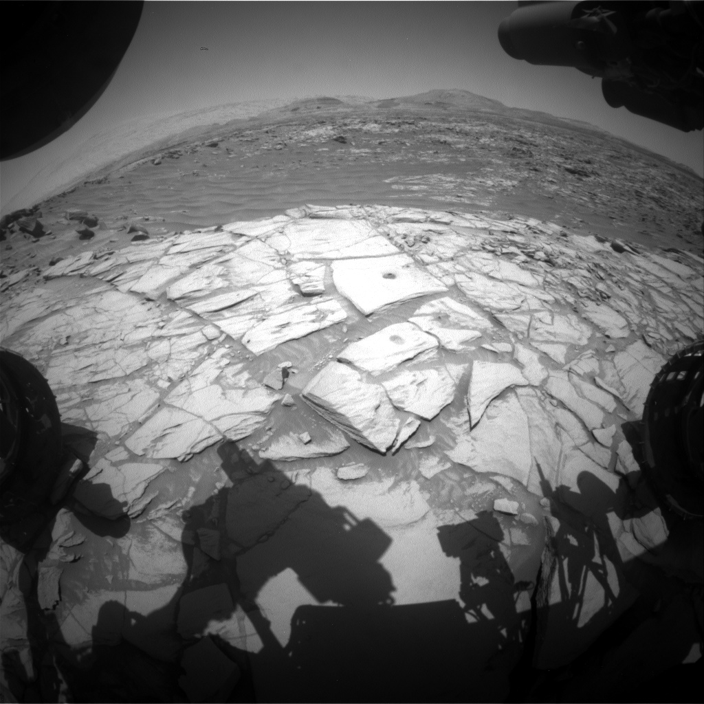 Nasa's Mars rover Curiosity acquired this image using its Front Hazard Avoidance Camera (Front Hazcam) on Sol 2721, at drive 654, site number 79