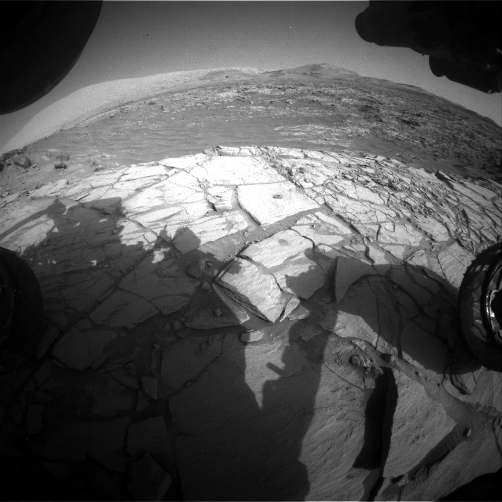 Nasa's Mars rover Curiosity acquired this image using its Front Hazard Avoidance Camera (Front Hazcam) on Sol 2722, at drive 654, site number 79