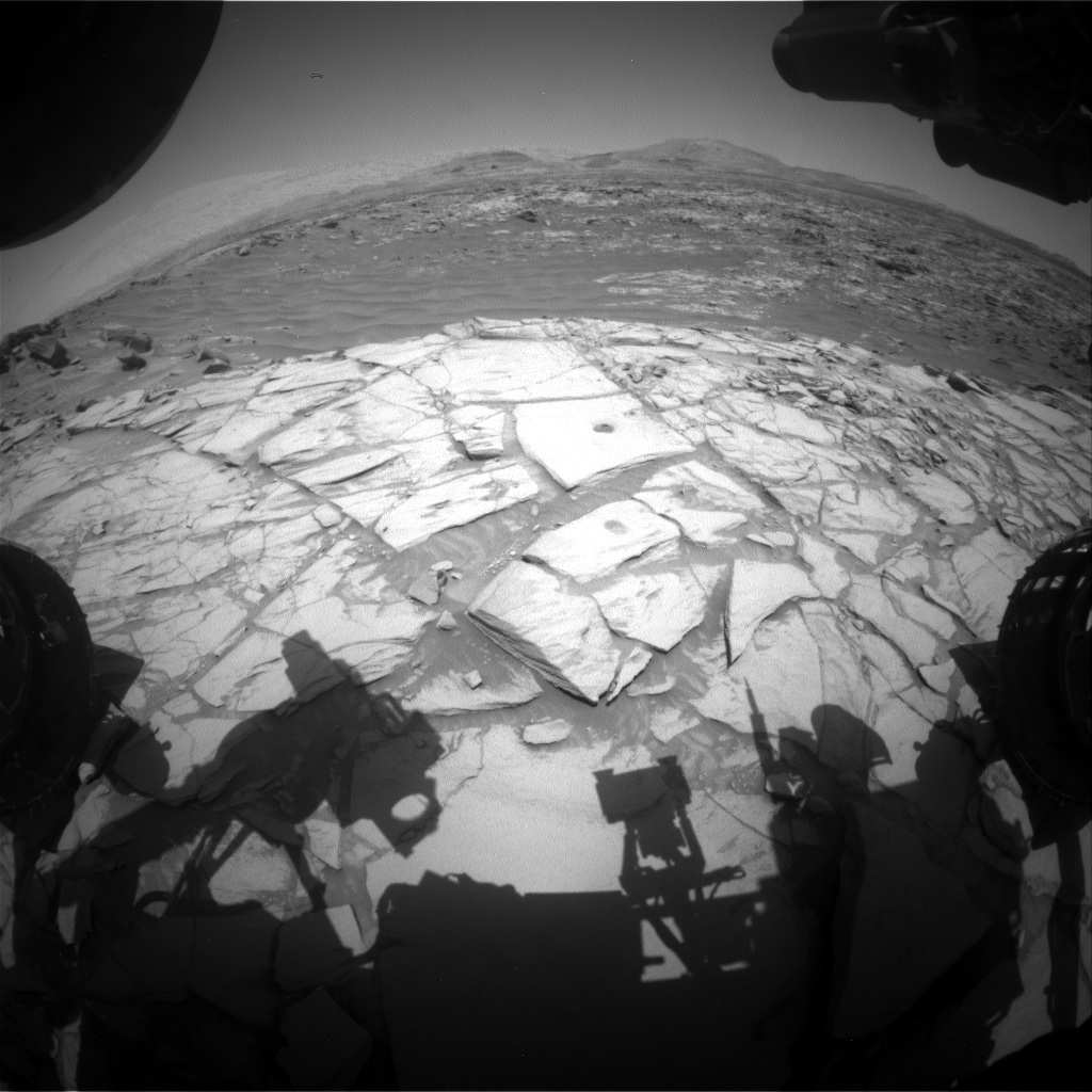Nasa's Mars rover Curiosity acquired this image using its Front Hazard Avoidance Camera (Front Hazcam) on Sol 2723, at drive 654, site number 79