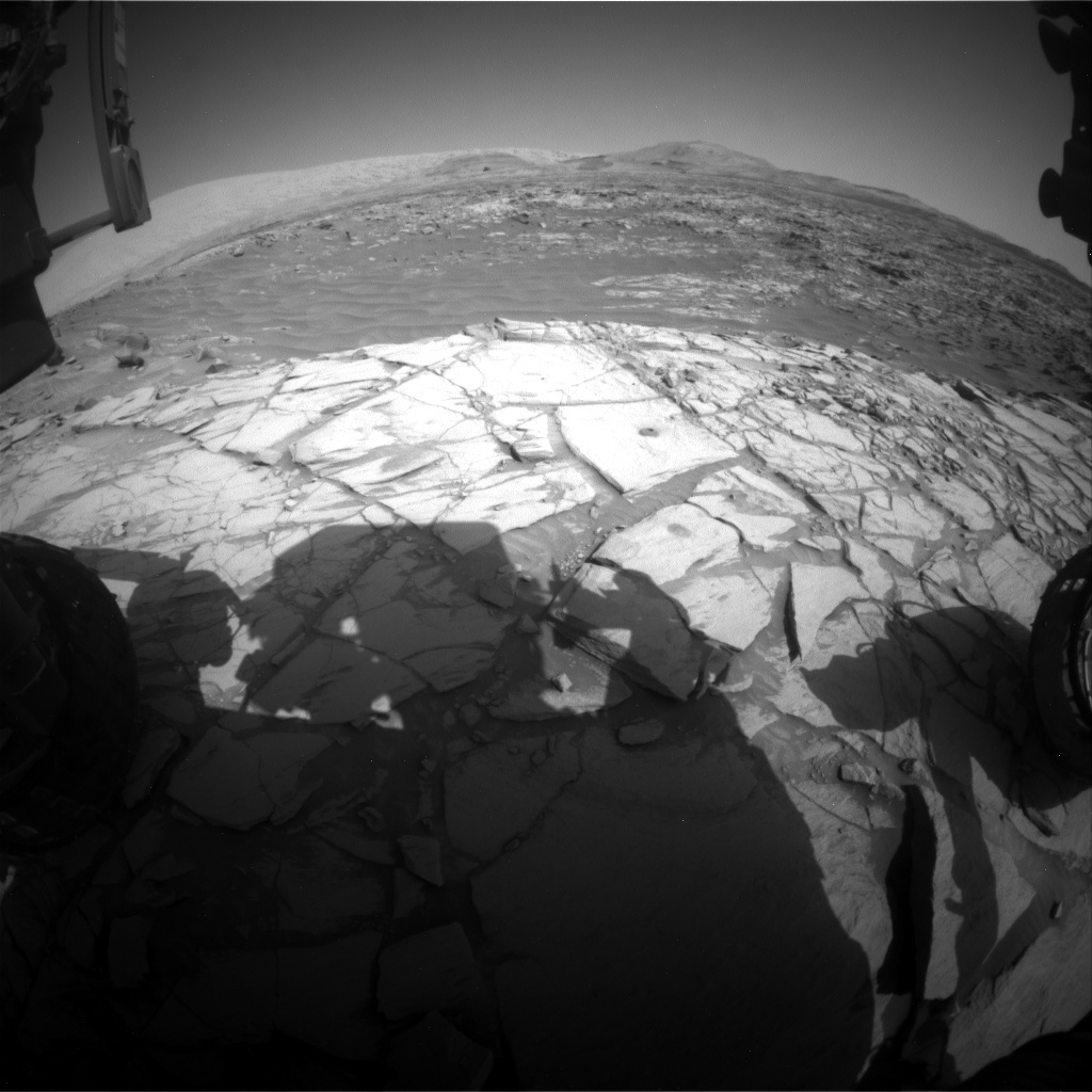 Nasa's Mars rover Curiosity acquired this image using its Front Hazard Avoidance Camera (Front Hazcam) on Sol 2725, at drive 654, site number 79