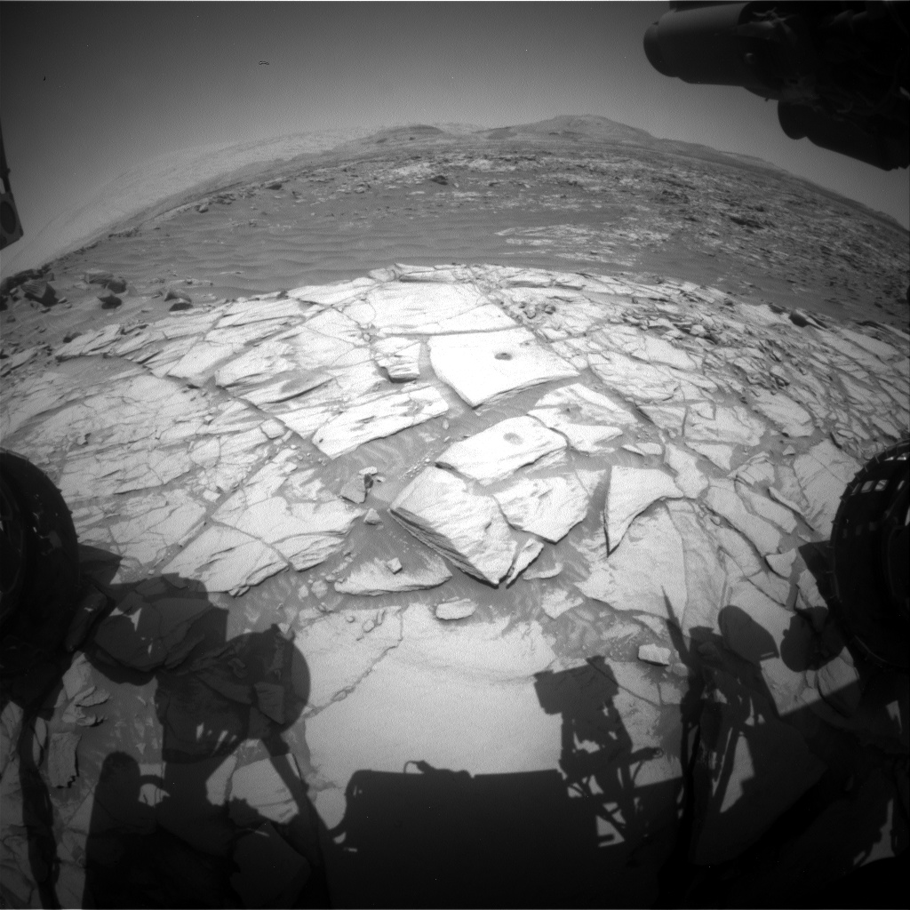 Nasa's Mars rover Curiosity acquired this image using its Front Hazard Avoidance Camera (Front Hazcam) on Sol 2726, at drive 654, site number 79