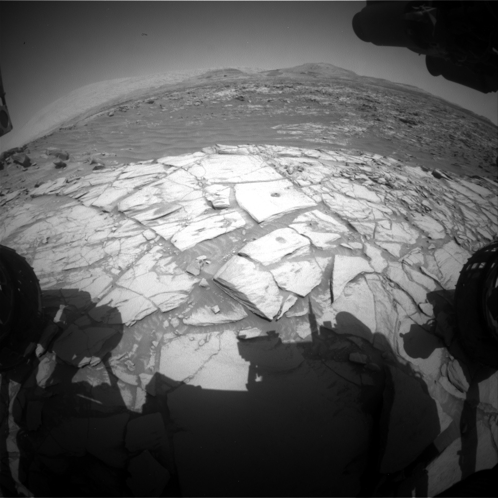 Nasa's Mars rover Curiosity acquired this image using its Front Hazard Avoidance Camera (Front Hazcam) on Sol 2728, at drive 654, site number 79