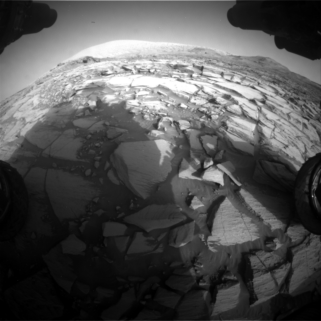 Nasa's Mars rover Curiosity acquired this image using its Front Hazard Avoidance Camera (Front Hazcam) on Sol 2729, at drive 720, site number 79