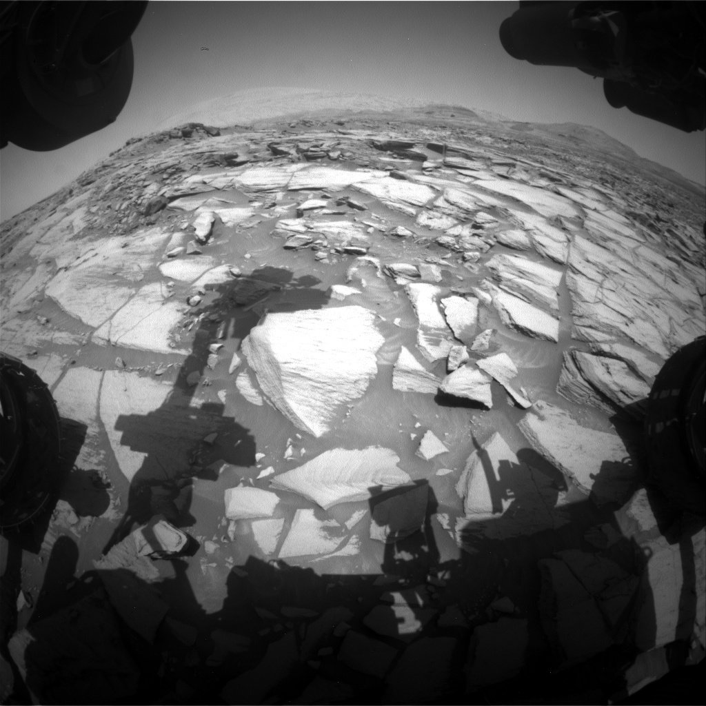 Nasa's Mars rover Curiosity acquired this image using its Front Hazard Avoidance Camera (Front Hazcam) on Sol 2730, at drive 720, site number 79