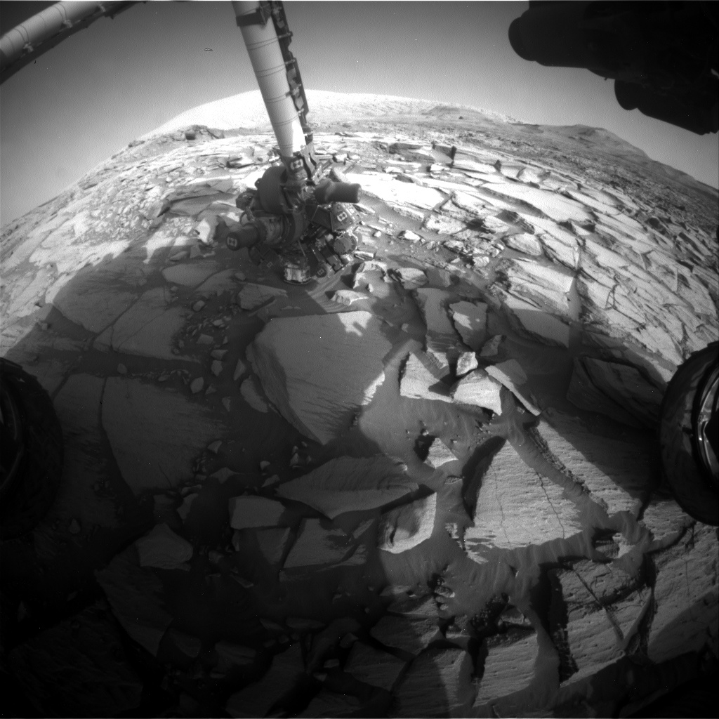 Nasa's Mars rover Curiosity acquired this image using its Front Hazard Avoidance Camera (Front Hazcam) on Sol 2731, at drive 720, site number 79