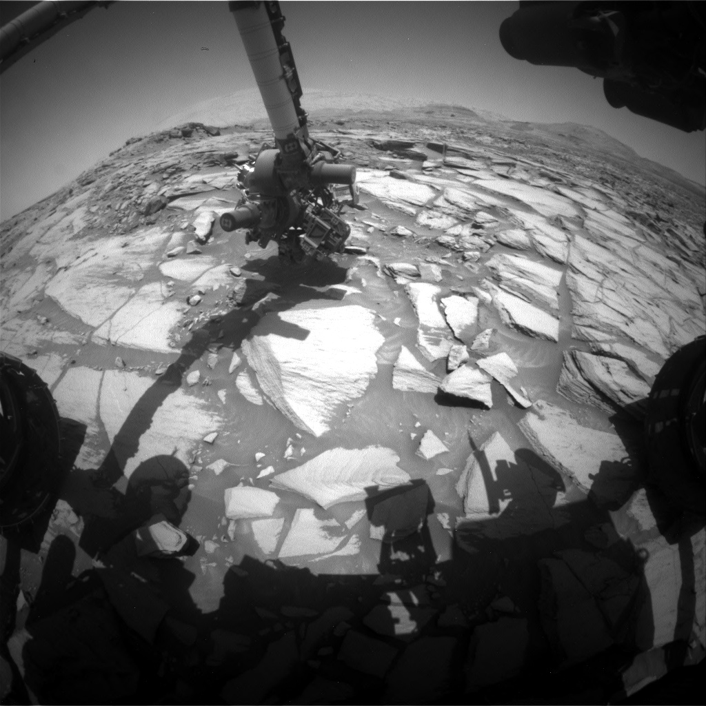 Nasa's Mars rover Curiosity acquired this image using its Front Hazard Avoidance Camera (Front Hazcam) on Sol 2732, at drive 720, site number 79