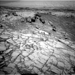 Nasa's Mars rover Curiosity acquired this image using its Left Navigation Camera on Sol 2732, at drive 774, site number 79