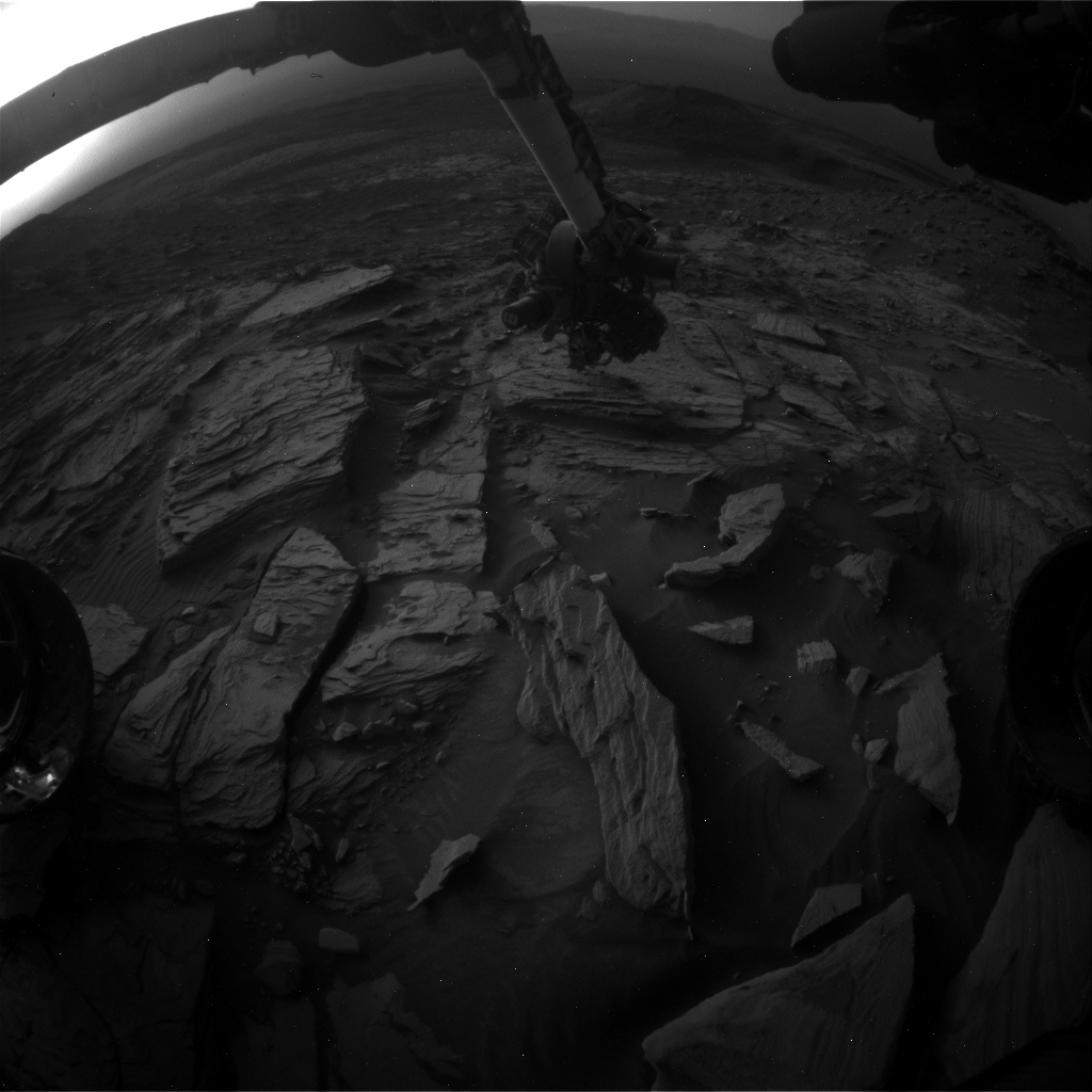 Nasa's Mars rover Curiosity acquired this image using its Front Hazard Avoidance Camera (Front Hazcam) on Sol 2733, at drive 972, site number 79