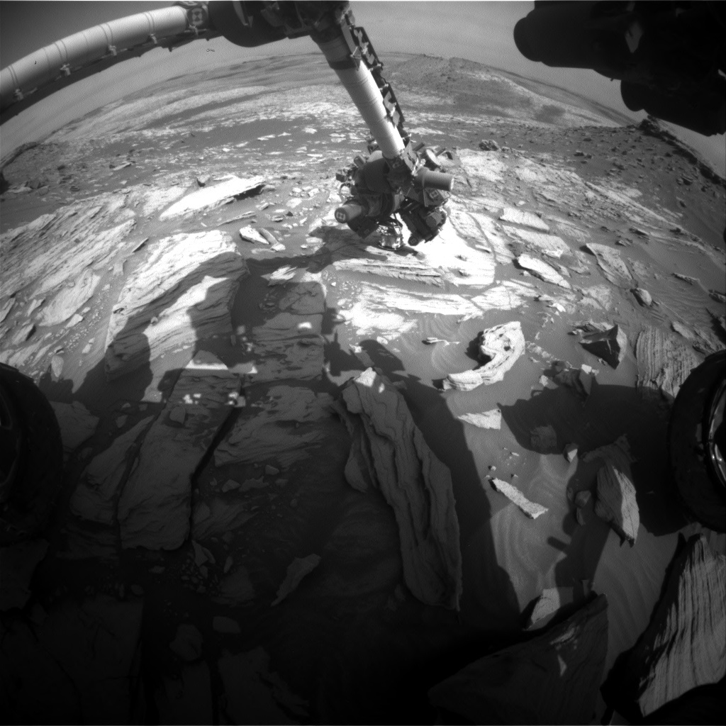 Nasa's Mars rover Curiosity acquired this image using its Front Hazard Avoidance Camera (Front Hazcam) on Sol 2734, at drive 972, site number 79
