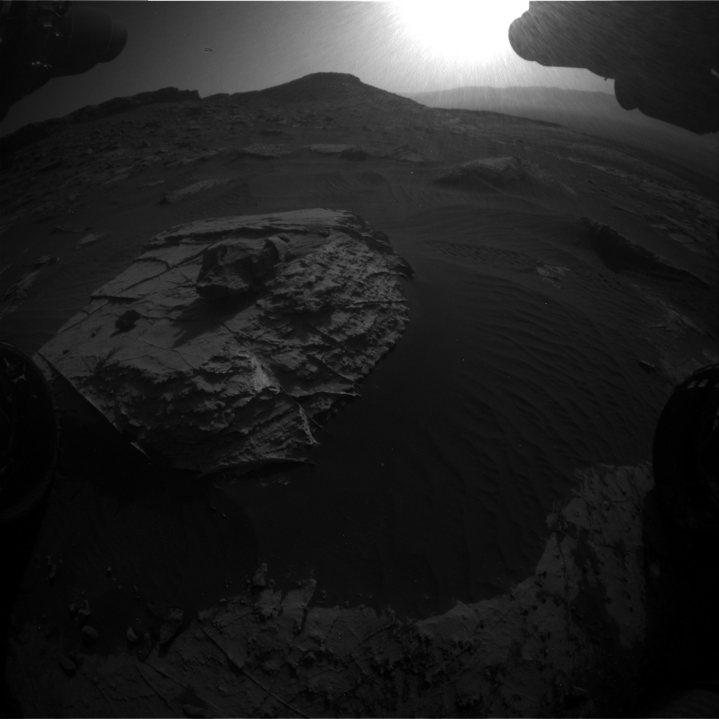 Nasa's Mars rover Curiosity acquired this image using its Front Hazard Avoidance Camera (Front Hazcam) on Sol 2734, at drive 1222, site number 79