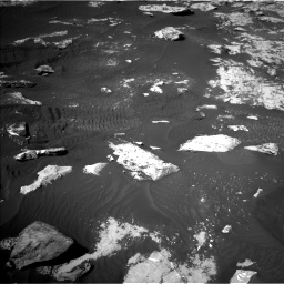 Nasa's Mars rover Curiosity acquired this image using its Left Navigation Camera on Sol 2734, at drive 1144, site number 79