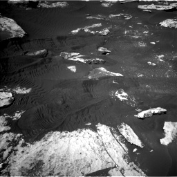 Nasa's Mars rover Curiosity acquired this image using its Left Navigation Camera on Sol 2734, at drive 1156, site number 79