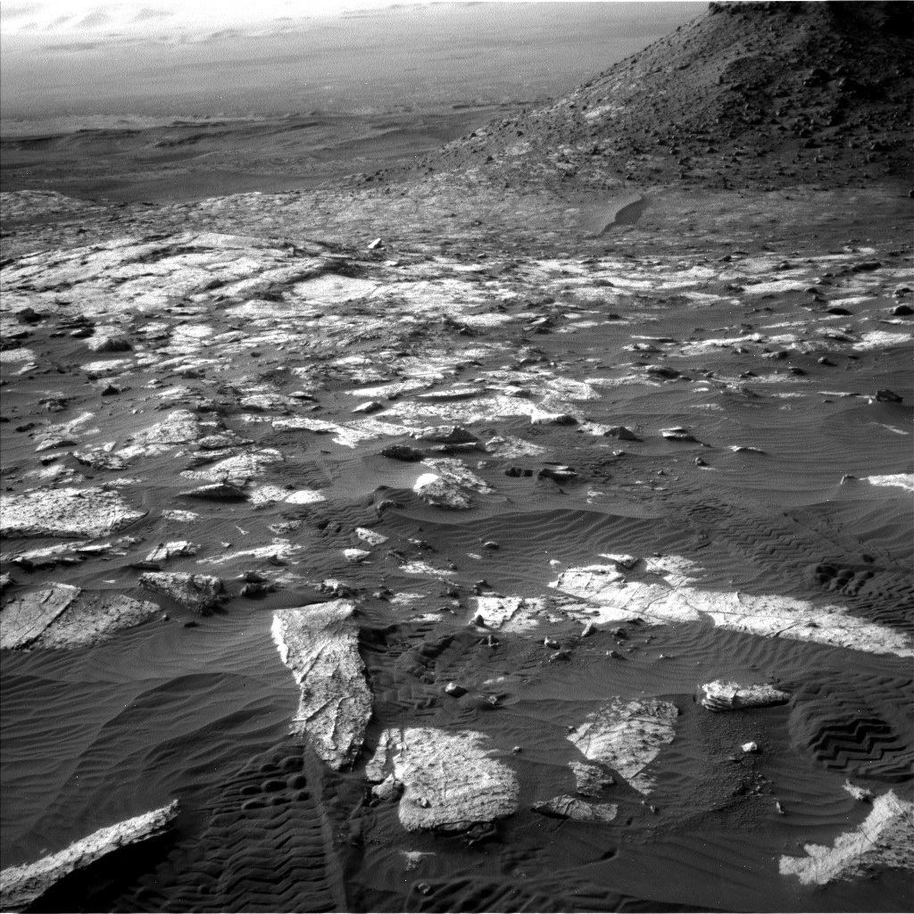 Nasa's Mars rover Curiosity acquired this image using its Left Navigation Camera on Sol 2734, at drive 1222, site number 79