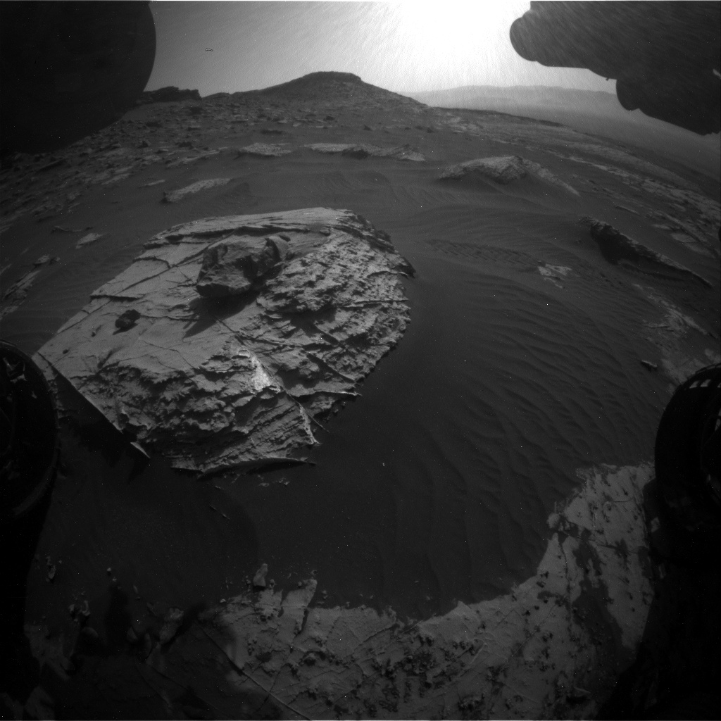Nasa's Mars rover Curiosity acquired this image using its Front Hazard Avoidance Camera (Front Hazcam) on Sol 2736, at drive 1222, site number 79
