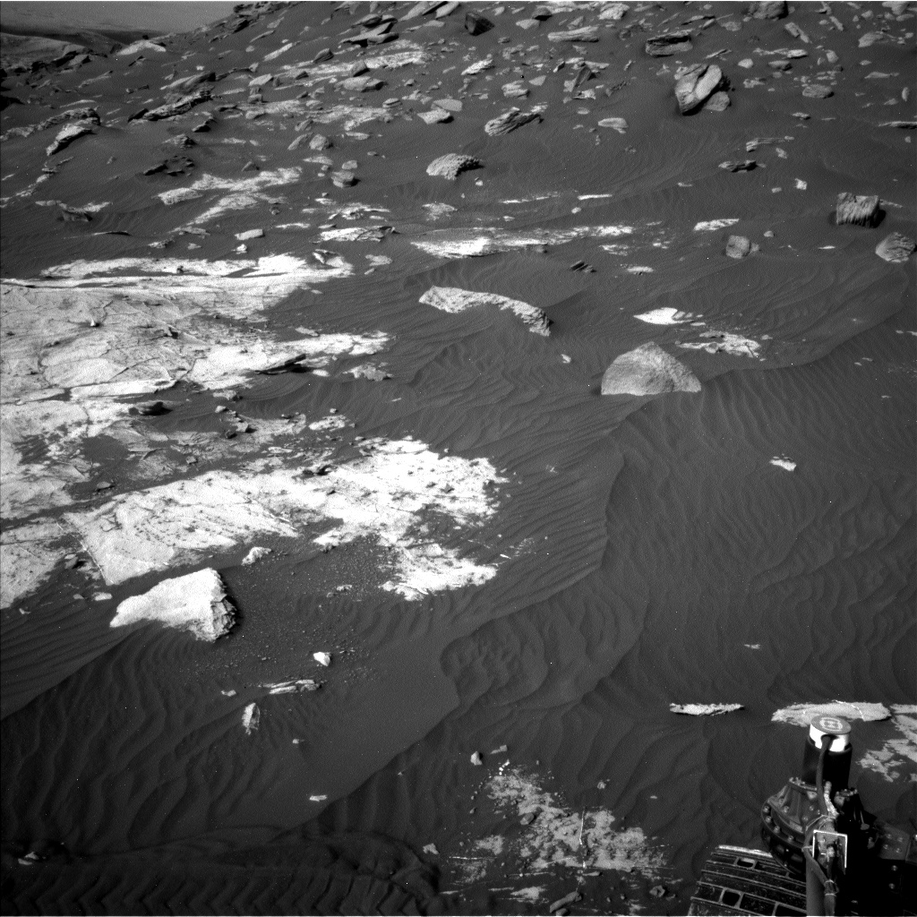 Nasa's Mars rover Curiosity acquired this image using its Left Navigation Camera on Sol 2736, at drive 1222, site number 79