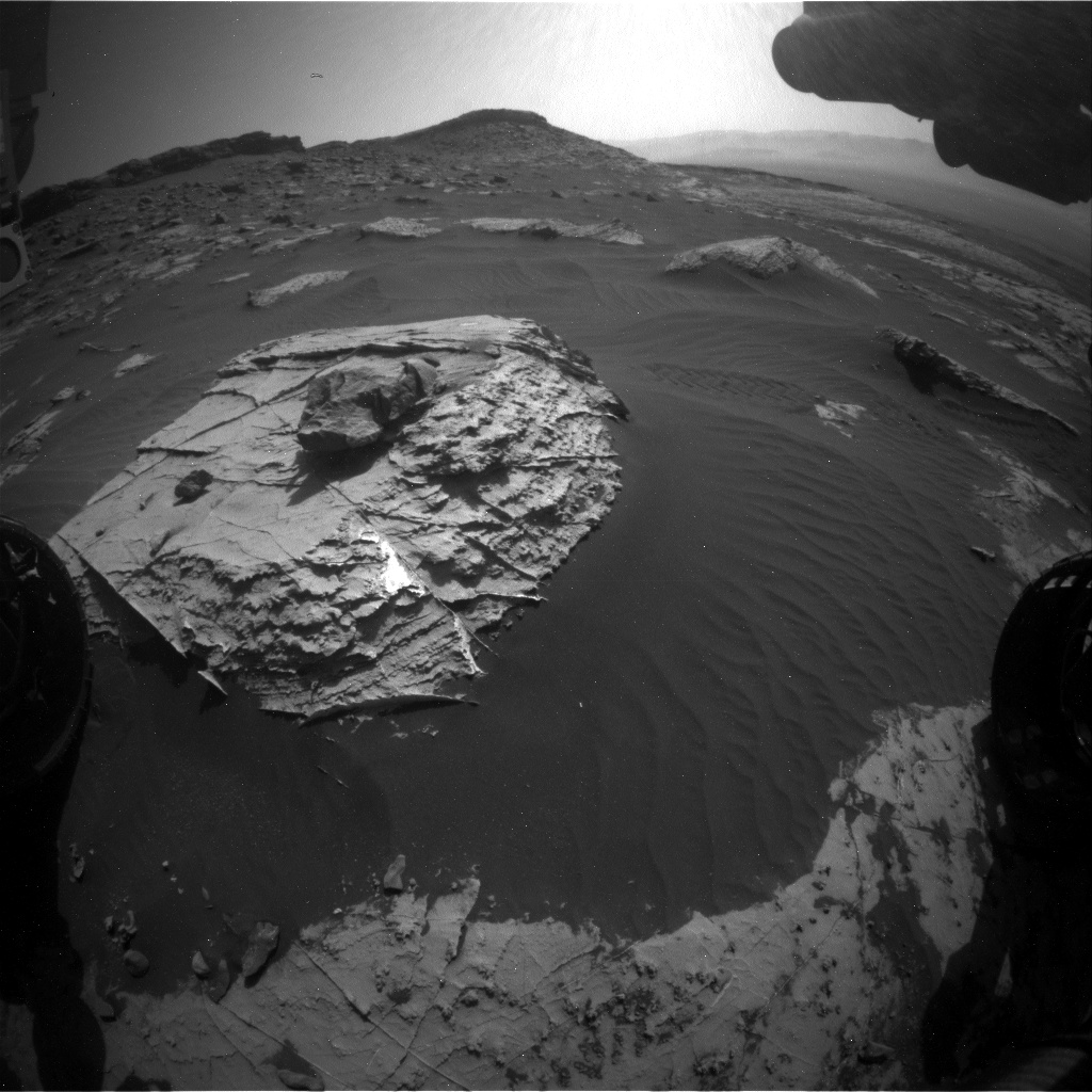 Nasa's Mars rover Curiosity acquired this image using its Front Hazard Avoidance Camera (Front Hazcam) on Sol 2737, at drive 1222, site number 79