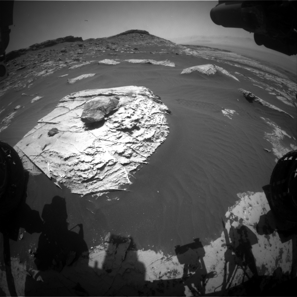 Nasa's Mars rover Curiosity acquired this image using its Front Hazard Avoidance Camera (Front Hazcam) on Sol 2739, at drive 1222, site number 79