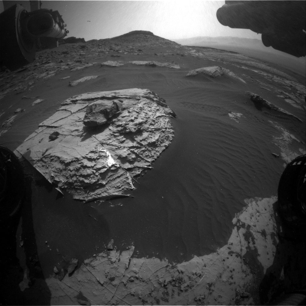 Nasa's Mars rover Curiosity acquired this image using its Front Hazard Avoidance Camera (Front Hazcam) on Sol 2740, at drive 1222, site number 79