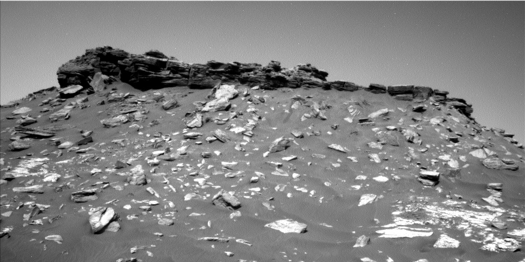 Nasa's Mars rover Curiosity acquired this image using its Left Navigation Camera on Sol 2740, at drive 1222, site number 79