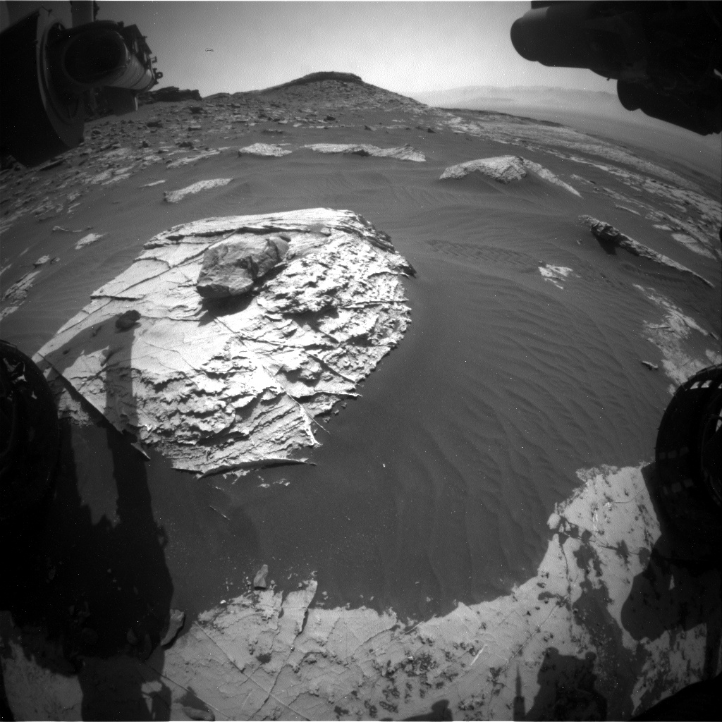 Nasa's Mars rover Curiosity acquired this image using its Front Hazard Avoidance Camera (Front Hazcam) on Sol 2741, at drive 1222, site number 79