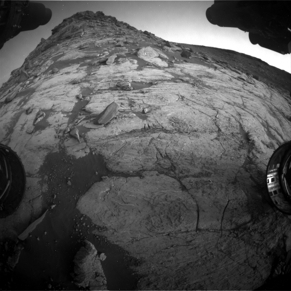 Nasa's Mars rover Curiosity acquired this image using its Front Hazard Avoidance Camera (Front Hazcam) on Sol 2742, at drive 1670, site number 79
