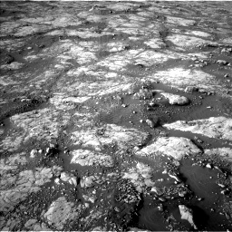 Nasa's Mars rover Curiosity acquired this image using its Left Navigation Camera on Sol 2742, at drive 1588, site number 79