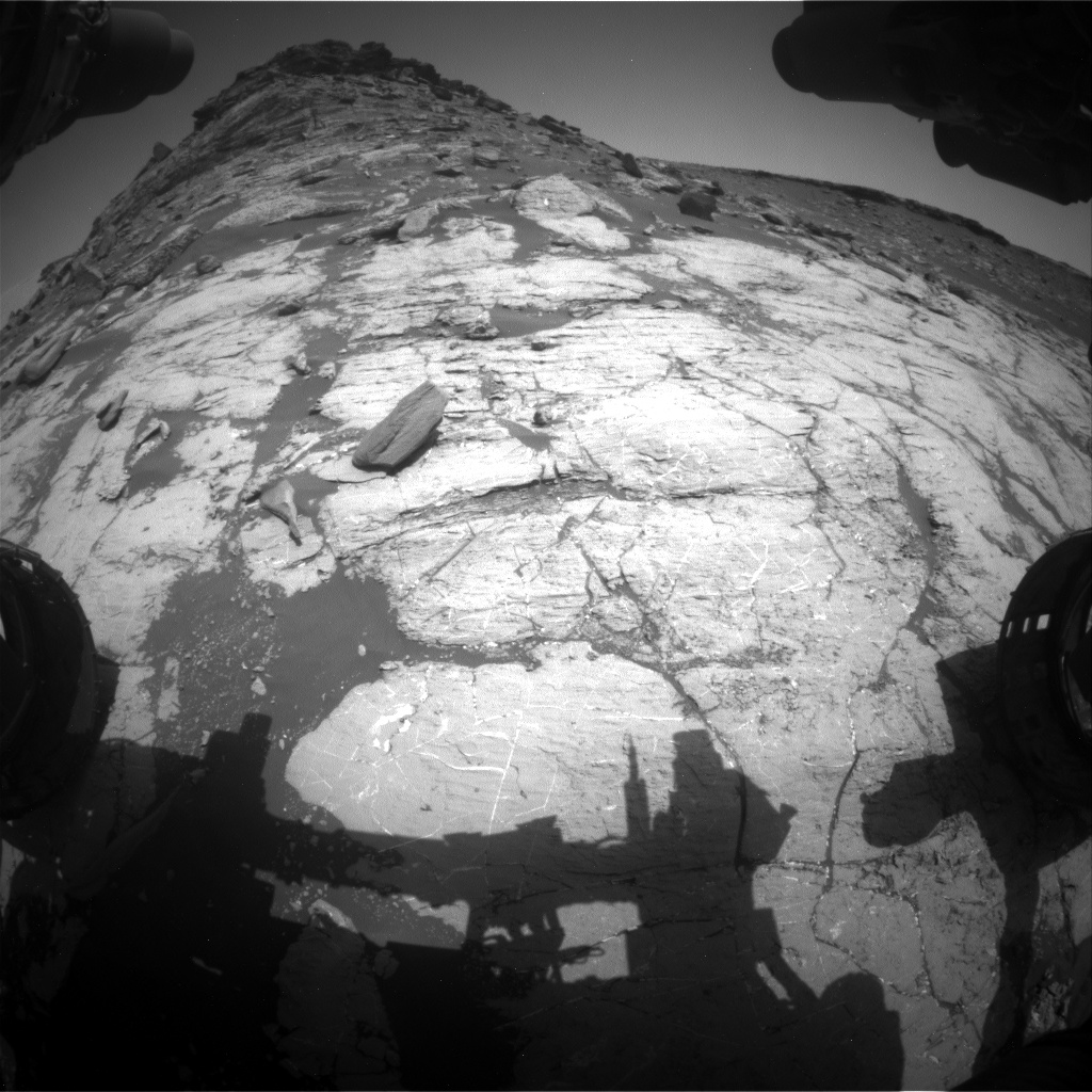 Nasa's Mars rover Curiosity acquired this image using its Front Hazard Avoidance Camera (Front Hazcam) on Sol 2743, at drive 1670, site number 79