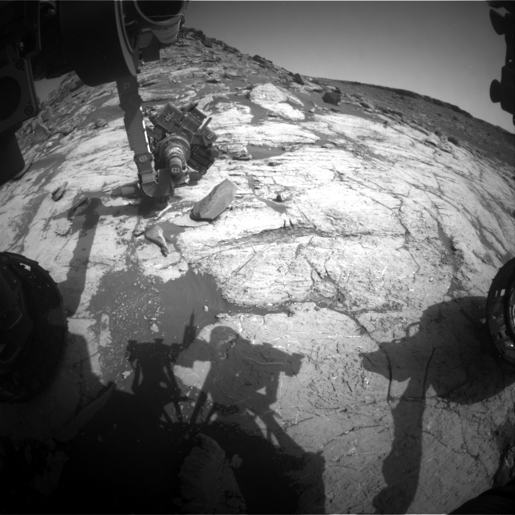 Nasa's Mars rover Curiosity acquired this image using its Front Hazard Avoidance Camera (Front Hazcam) on Sol 2744, at drive 1670, site number 79