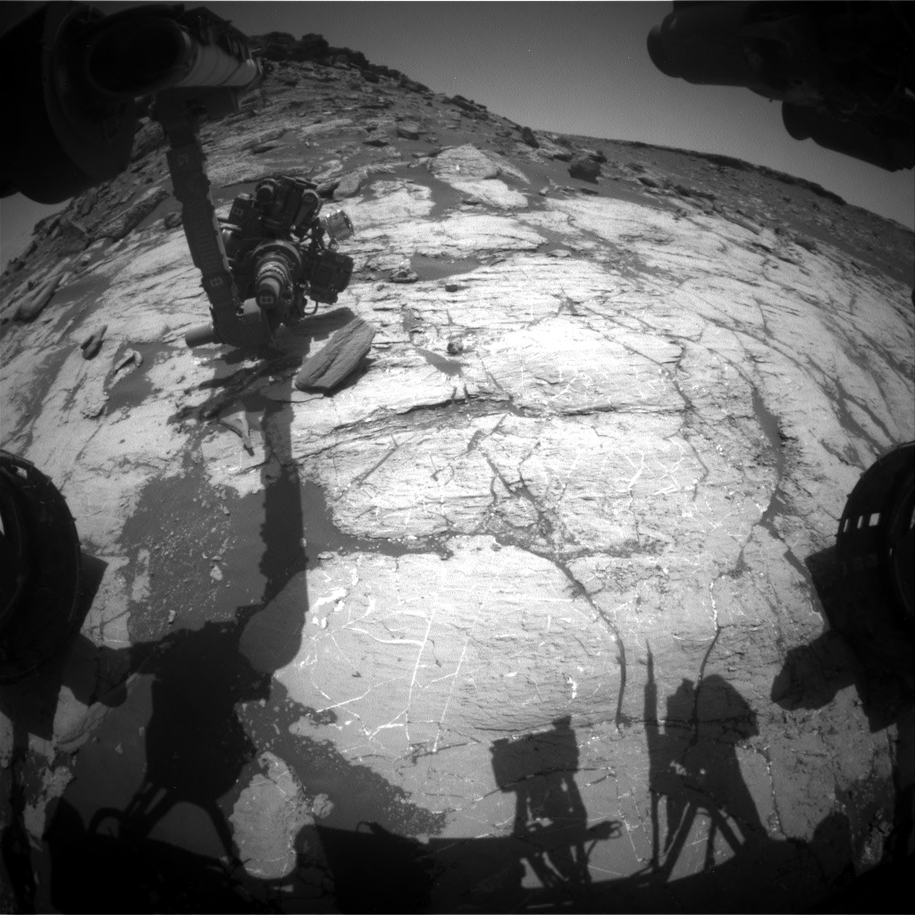 Nasa's Mars rover Curiosity acquired this image using its Front Hazard Avoidance Camera (Front Hazcam) on Sol 2745, at drive 1670, site number 79