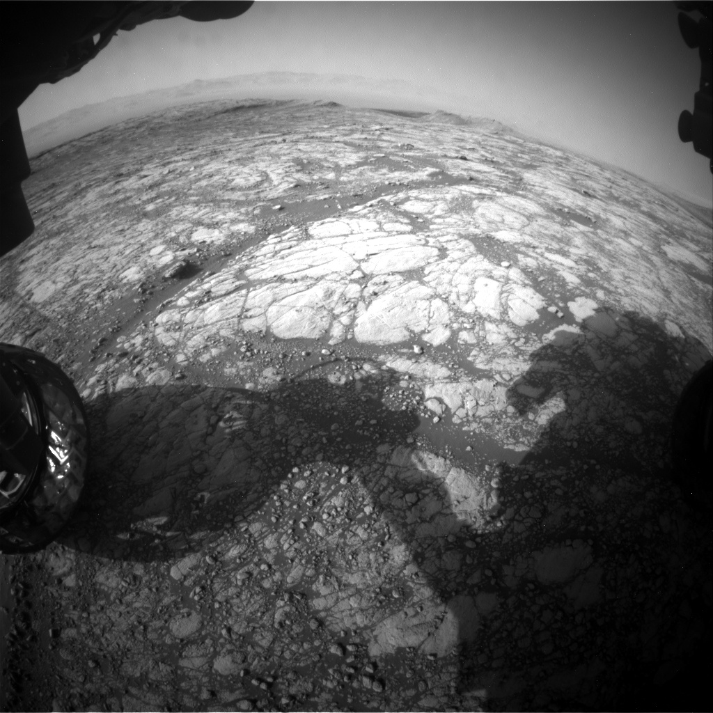 Nasa's Mars rover Curiosity acquired this image using its Front Hazard Avoidance Camera (Front Hazcam) on Sol 2747, at drive 2008, site number 79