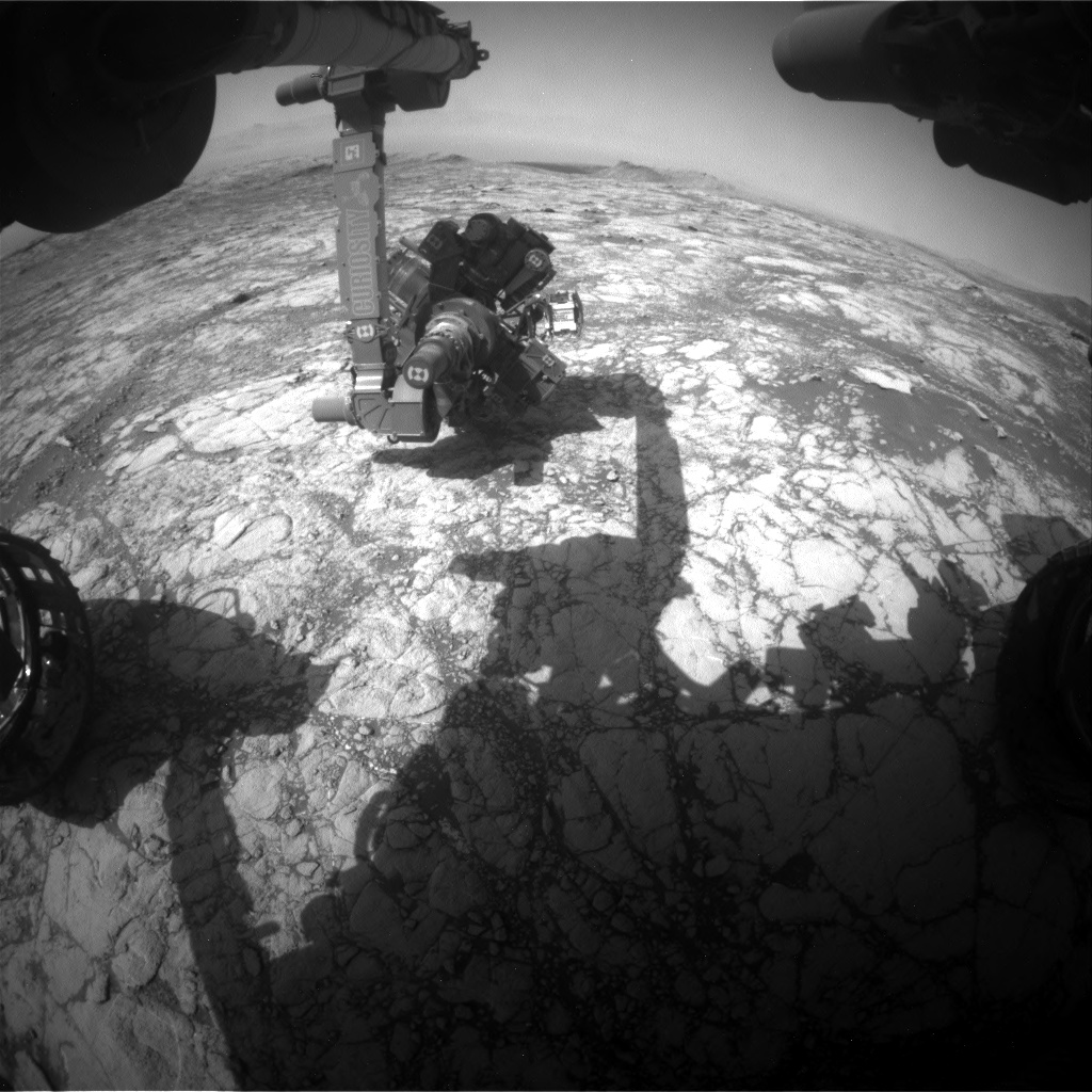 Nasa's Mars rover Curiosity acquired this image using its Front Hazard Avoidance Camera (Front Hazcam) on Sol 2747, at drive 1956, site number 79
